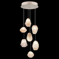 Fine Art Handcrafted Lighting 852640-14L Natural Inspirations LED Contemporary Silver LED Multi Drop Ceiling Lighting