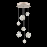 Fine Art Handcrafted Lighting 852640-205 Natural Inspirations Contemporary Gold LED Multi Ceiling Pendant Light