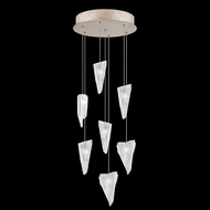 Fine Art Handcrafted Lighting 852640-208L Natural Inspirations LED Contemporary Gold LED Multi Pendant Lamp