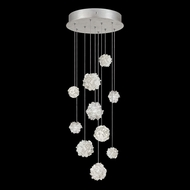 Fine Art Lamps 852840-105L Natural Inspirations LED Contemporary Silver LED Multi Pendant Hanging Light