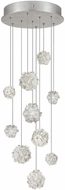 Fine Art Lamps 852840-105ST Natural Inspirations Contemporary Silver Halogen Multi Drop Ceiling Lighting