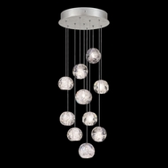 Fine Art Lamps 852840-106L Natural Inspirations LED Contemporary Silver LED Multi Hanging Light Fixture