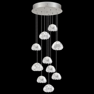 Fine Art Lamps 852840-107L Natural Inspirations LED Contemporary Silver LED Multi Drop Lighting