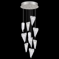 Fine Art Lamps 852840-108L Natural Inspirations LED Modern Silver LED Multi Drop Ceiling Lighting
