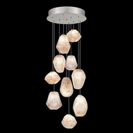 Fine Art Lamps 852840-14L Natural Inspirations LED Modern Silver LED Multi Drop Ceiling Light Fixture