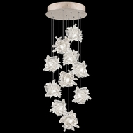 Fine Art Lamps 852840-202L Natural Inspirations LED Modern Gold LED Multi Drop Lighting Fixture