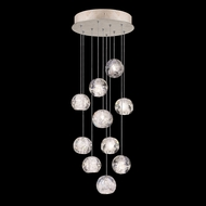Fine Art Handcrafted Lighting 852840-206L Natural Inspirations LED Contemporary Gold LED Multi Pendant Light