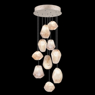 Fine Art Handcrafted Lighting 852840-24L Natural Inspirations LED Contemporary Gold LED Multi Pendant Light Fixture