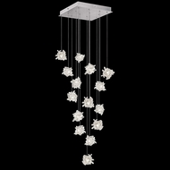 Fine Art Lamps 853040-102 Natural Inspirations Modern Silver LED Multi Pendant Lighting Fixture
