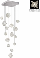 Fine Art Lamps 853040-102ST Natural Inspirations Contemporary Silver Halogen Multi Hanging Light