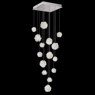 Fine Art Lamps 853040-105 Natural Inspirations Contemporary Silver LED Multi Hanging Pendant Light