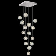 Fine Art Lamps 853040-106 Natural Inspirations Contemporary Silver LED Multi Hanging Light Fixture