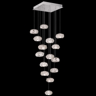 Fine Art Lamps 853040-11L Natural Inspirations LED Modern Silver LED Multi Drop Ceiling Light Fixture