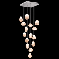 Fine Art Lamps 853040-14 Natural Inspirations Contemporary Silver LED Multi Pendant Light