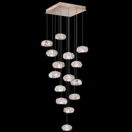 Fine Art Lamps 853040-21L Natural Inspirations LED Contemporary Gold LED Multi Pendant Hanging Light