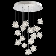 Fine Art Lamps 853140-102L Natural Inspirations LED Contemporary Silver LED Multi Ceiling Pendant Light