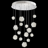 Fine Art Lamps 853140-105 Natural Inspirations Modern Silver LED Multi Drop Ceiling Light Fixture