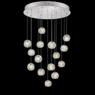 Fine Art Lamps 853140-106 Natural Inspirations Contemporary Silver LED Multi Pendant Lighting