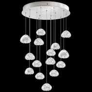 Fine Art Lamps 853140-107L Natural Inspirations LED Contemporary Silver LED Multi Pendant Lamp
