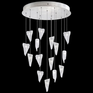 Fine Art Lamps 853140-108 Natural Inspirations Modern Silver LED Multi Hanging Lamp