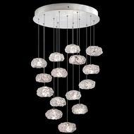 Fine Art Lamps 853140-11 Natural Inspirations Contemporary Silver LED Multi Pendant Light Fixture