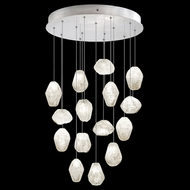 Fine Art Lamps 853140-13 Natural Inspirations Modern Silver LED Multi Hanging Pendant Lighting