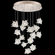 Fine Art Handcrafted Lighting 853140-202L Natural Inspirations LED Contemporary Gold LED Multi Drop Lighting