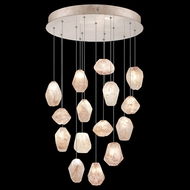 Fine Art Handcrafted Lighting 853140-24L Natural Inspirations LED Contemporary Gold LED Multi Pendant Light Fixture