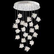 Fine Art Handcrafted Lighting 853240-102L Natural Inspirations LED Contemporary Silver LED Multi Hanging Pendant Lighting