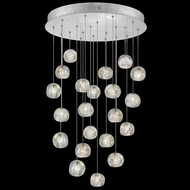 Fine Art Handcrafted Lighting 853240-106L Natural Inspirations LED Contemporary Silver LED Multi Drop Lighting