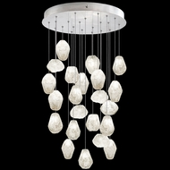 Fine Art Handcrafted Lighting 853240-13L Natural Inspirations LED Contemporary Silver LED Multi Lighting Pendant