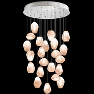 Fine Art Handcrafted Lighting 853240-14L Natural Inspirations LED Contemporary Silver LED Multi Hanging Lamp