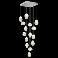 Fine Art Handcrafted Lighting 853340-13L Natural Inspirations LED Contemporary Silver LED Multi Hanging Pendant Light