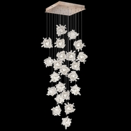 Fine Art Handcrafted Lighting 853340-202L Natural Inspirations LED Contemporary Gold LED Multi Hanging Light Fixture