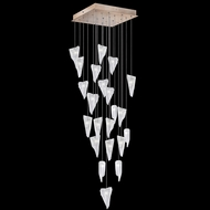 Fine Art Handcrafted Lighting 853340-208L Natural Inspirations LED Contemporary Gold LED Multi Ceiling Pendant Light