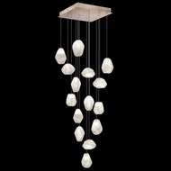 Fine Art Handcrafted Lighting 853340-23L Natural Inspirations LED Contemporary Gold LED Multi Drop Lighting Fixture