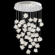 Fine Art Handcrafted Lighting 853440-102L Natural Inspirations LED Contemporary Silver LED Multi Pendant Light