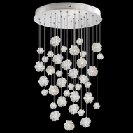 Fine Art Handcrafted Lighting 853440-105L Natural Inspirations LED Contemporary Silver LED Multi Pendant Lamp
