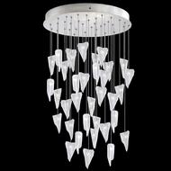 Fine Art Handcrafted Lighting 853440-108 Natural Inspirations Contemporary Silver LED Multi Pendant Light Fixture