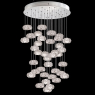 Fine Art Handcrafted Lighting 853440-11L Natural Inspirations LED Contemporary Silver LED Multi Hanging Pendant Light