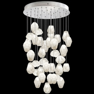 Fine Art Handcrafted Lighting 853440-13L Natural Inspirations LED Contemporary Silver LED Multi Pendant Hanging Light