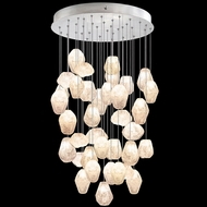 Fine Art Handcrafted Lighting 853440-14L Natural Inspirations LED Contemporary Silver LED Multi Hanging Light Fixture