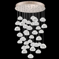 Fine Art Handcrafted Lighting 853440-207L Natural Inspirations LED Contemporary Gold LED Multi Ceiling Pendant Light