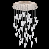 Fine Art Handcrafted Lighting 853440-208L Natural Inspirations LED Contemporary Gold LED Multi Drop Ceiling Light Fixture
