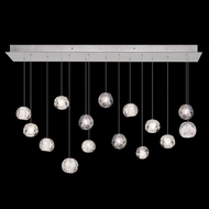 Fine Art Handcrafted Lighting 853740-106L Natural Inspirations LED Modern Silver LED Multi Drop Ceiling Light Fixture