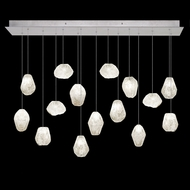 Fine Art Handcrafted Lighting 853740-13L Natural Inspirations LED Contemporary Silver LED Multi Pendant Light Fixture