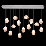 Fine Art Handcrafted Lighting 853740-14 Natural Inspirations Contemporary Silver LED Multi Pendant Lighting Fixture