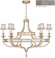 Fine Art Lamps 857840-11ST Prussian Neoclassic Prussian Silver Gray Hanging Chandelier w/ Shades