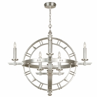 Fine Art Handcrafted Lighting 860140-2 Liaison Silver LED Pendant Hanging Light