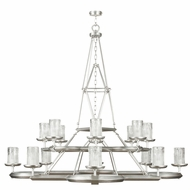 Fine Art Handcrafted Lighting 860540-2 Liaison Contemporary Silver LED Hanging Chandelier